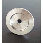 barbed hose X KF25 flange stainless steel vacuum adapter
